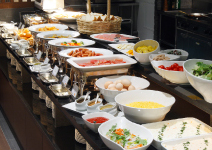 和食&洋食のブッフェスタイル
