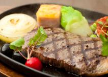 阿蘇あか牛もも肉炭火焼ステーキセット