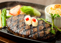阿蘇あか牛ハンバーグ炭火焼ステーキ
