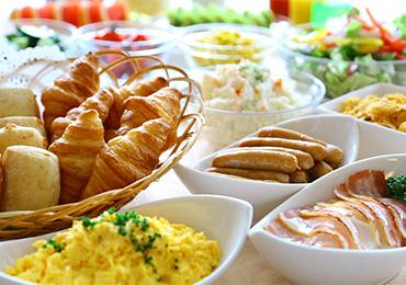 充実の朝食バイキング「からだが喜ぶ朝食」